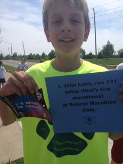 John just finished his 5th marathon!