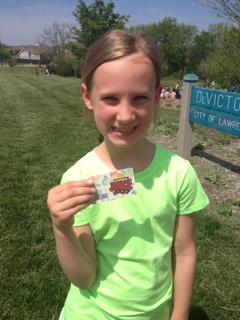 Kinsey ran her 3rd marathon!