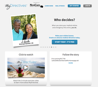 MyDirectives.com. A free online service to create a personalized Advanced Medical Directive.