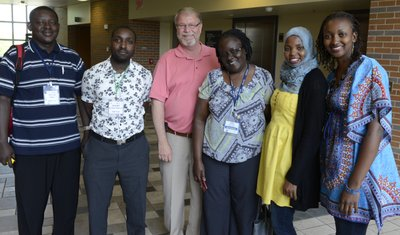 Bert Nash CEO David Johnson hosted a group of visitors from Africa. Each member of the Rotary group study exchange team works in the medical field.