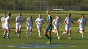 Washburn Rural players celebrate the first of four second half goals as Free State senior Abbey Casady watches during a state regional playoff game Thursday in Topeka.
