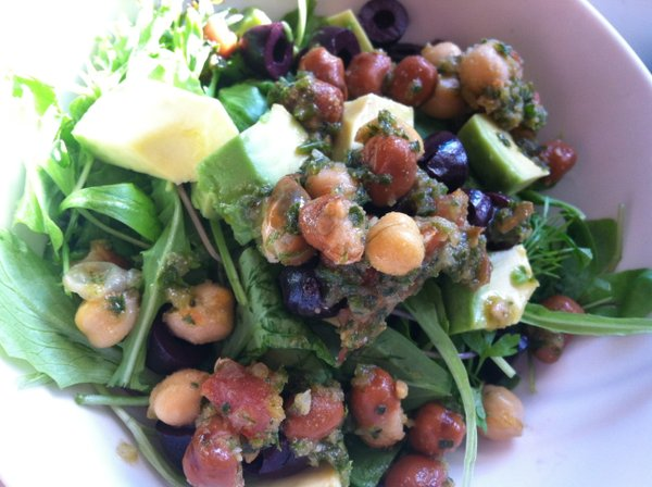 This salad is local in more ways than just my CSA.