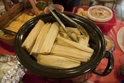 A pot of tamales was one of the dishes on the buffet at the Lawrence Public Library's May Cookbook Club meeting. Attendees whipped up recipes to match the month's theme of Mexican cuisine.