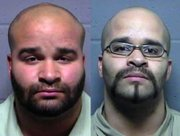 Los Dahda, left, and Roosevelt Dahda, jail mugshots.