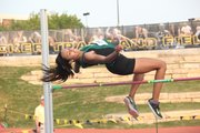 Free State's Alexa Harmon-Thomas placed second in the Class 6A girls high jump at Friday's state track and field championships in Wichita.