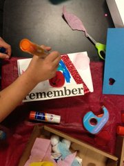 Participants in the Keepsake children's grief support group make keepsake boxes to remember their late loved ones.