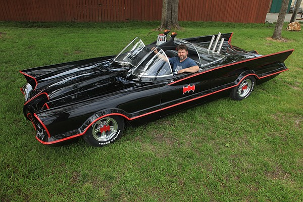 Lawrence auto mechanic Rich Johnson recently finished building his very own Batmobile using the frame of a Lincoln Town Car. The car, which took countless hours of work and research, will appear in Saturday's Art Tougeau parade in downtown Lawrence.