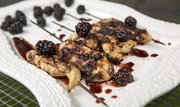 Megan's Chicken Satay with Blackberry-Ginger Sauce.