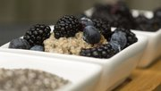 Sarah's Vanilla Chia Pudding with Blackberries and Blueberries