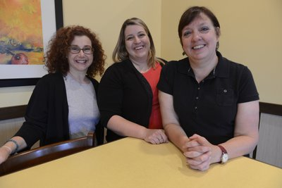 The WRAP workers in Eudora are Carla DeHetre, left, Amy Brown, middle, and Elizabeth Day.