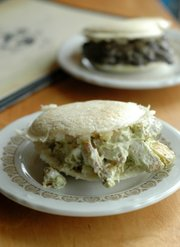 Reina Pepiada Arepa at Global Cafe, 810 Massachusetts St.