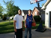 Perry Ellis was a surprise visitor on Sunday at the home of Special Olympian Tony Parker. Friends of Ellis who live Bel Aire, a Wichita suburb, told Ellis that Parker regularly shoots hoops in his driveway wearing an Ellis jersey, so Ellis and his friends stopped by to shoot hoops with him.