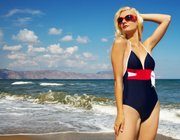 One-piece swimsuits are really making a comeback this season with a much more fashion-forward feel to them.