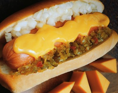 Hot dog with cheese from Microsoft Word