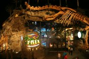 Dinosaurs come to life at the 20,000-square-foot T-Rex Restaurant at Village West near Kansas Speedway.