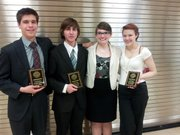 Lawrence High School students Stefan Petrovic, Eddie Loupe, Lauren Pauls and Clara Cobb will compete this week at the National Forensics League national tournament in Birmingham, Ala.