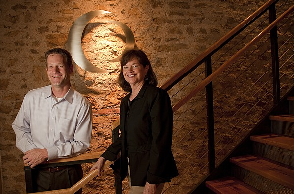 Chris Marshall, vice president and account management for Callahan Creek, left, and Cindy Maude, CEO, have guided their ad agency to several regional and national awards.