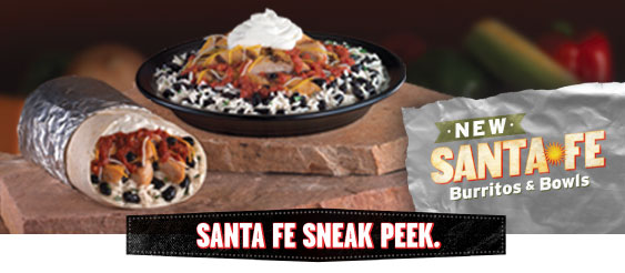Santa Fe Burrito and Santa Fe Bowl, new items at Taco John's