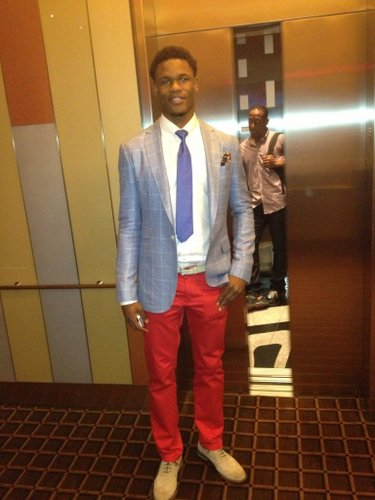 Ben McLemore is wearing blue and red during his pre-draft interviews Wednesday. Photo by Matt Tait.