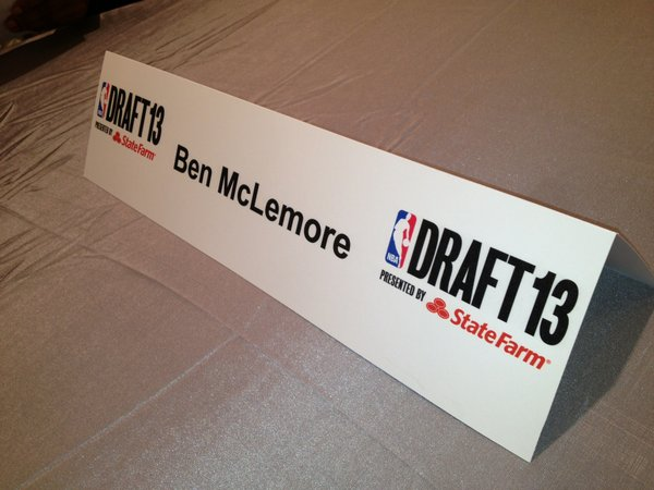 Ben McLemore's official nametag at the NBA Draft. Photo by Matt Tait.