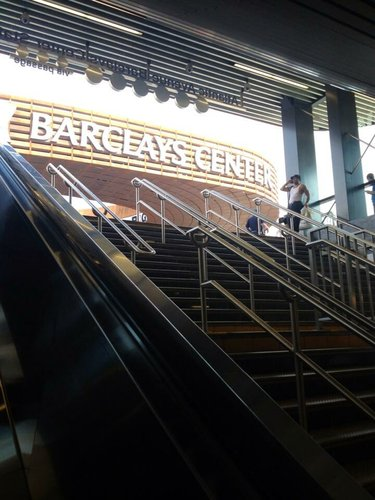 Walking up to the Barclays Center from the subway in Brooklyn, N.Y., site of the 2013 NBA Draft.