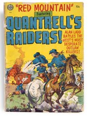 Image courtesy of KansasMemory.org, Kansas State Historical Society. Red Mountain, featuring Quantrill's Raiders comic book cover, Avon Periodicals Inc., 1952.