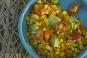Sarah Henning's Confetti Corn Salad with cherry tomatoes, sweet peppers and avocado is a versatile dish that can be dressed up or down.