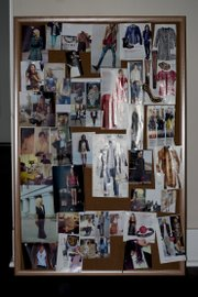 I use a cork board to pin magazine clippings featuring anything from outfits I want to remake to separate pieces I want to add to my closet.