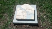 Split in four parts, the original tombstone of Douglas County Sheriff Samuel Jones now rests in Lecompton after decades abandoned in a New Mexico cemetery.