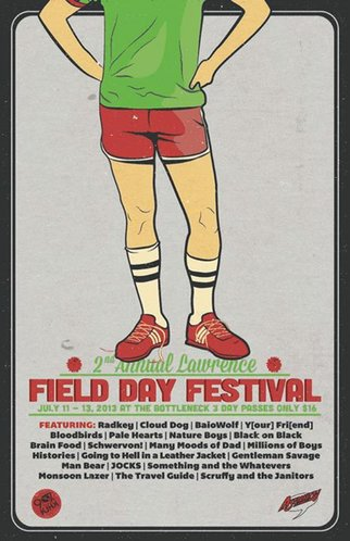 Lawrence Field Day Fest 2013 full line-up poster design, (photo-credit: Facebook)