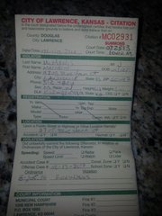 A municipal citation for illegal fireworks issued to Matt McManis, 39, of Lawrence. McManis said he doesn't agree with the ban but does not dispute the charge.