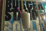 The Siberian, one of the featured adult milkshakes at the Burger Stand, 803 Massachusetts St. The shake is made with Kahlua, chocolate vodka and vanilla ice cream.