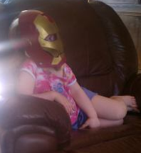 Tony Stark's alter-ego, my daughter, Lucy.