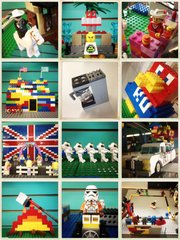 """This is a selection of entries in The Toy Store's third annual Lego contest on display at 936 Massachusetts St. The Toy Store has received more than 200 submissions for the contest, mostly from children; however, several entries from adults are grabbing people's attention, according to Toy Store """"Lego-ologist"""" and contest organizer, Jhami Guffey."""