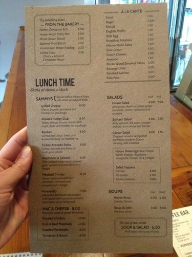 Lunch menu at The Roost, 920 Massachusetts St.