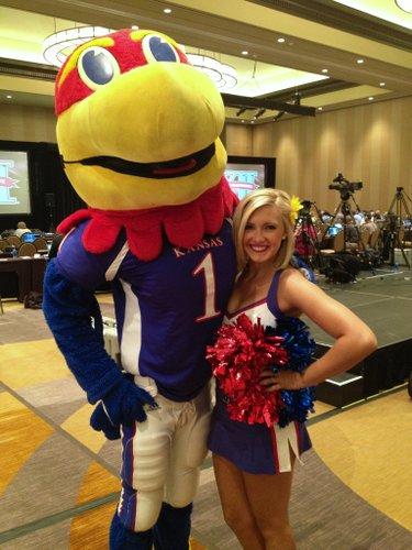 KU cheerleader Kiley Dombroski.