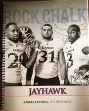 2013 Kansas football media guide cover.