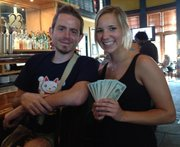 "Seth Collins left a $500 tip for waitress Jessica Betts at the 23rd Street Brewery on Friday. Collins, of Lexington, Ky., is traveling the country leaving $500 tips in honor of his brother Aaron, who died last July and left instructions in his will to leave the ""awesome"" gratuity."