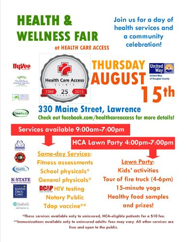 health fair announcement template