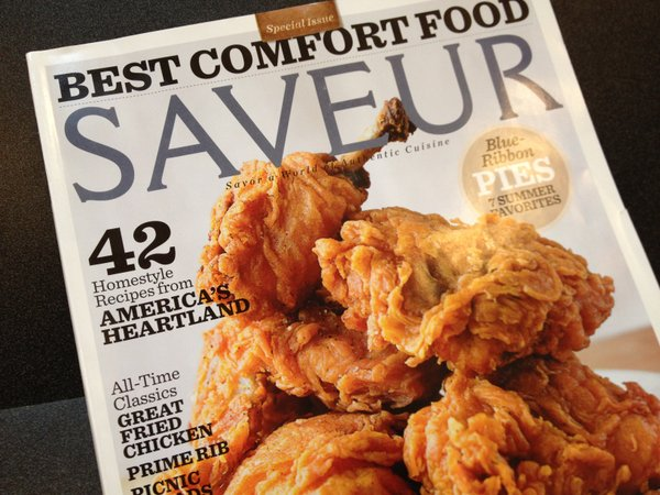The cover of the August/September 2013 issue of Saveur magazine, featuring stories and recipes from the heartland — including Lawrence.