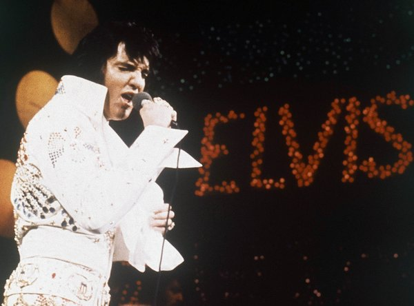 Elvis Presley performing in 1972. (AP file photo)