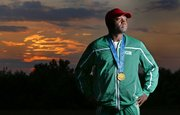 Jude Monye, of Lawrence, finally claimed his gold medal this summer, five years after U.S. athletes were stripped of theirs in a scandal involving performance-enhancing drugs. Monye had won the silver with the Nigerian 4x400 team in the 2000 Summer Olympics; the American team that won the gold was disqualified in 2008.