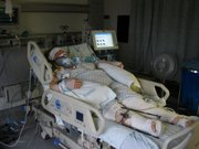 Becky Chapman recovers in the hospital from a devastating accident caused by a drunk driver south of Lawrence in 2007.