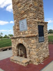 A bus tour following Quantrill's raiders' path to Lawrence in August 1863 on Saturday started at the Burnt District Monument in Harrisonville, Mo.