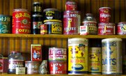 Vintage tins wait to be discovered at Mission Road Antique Mall.