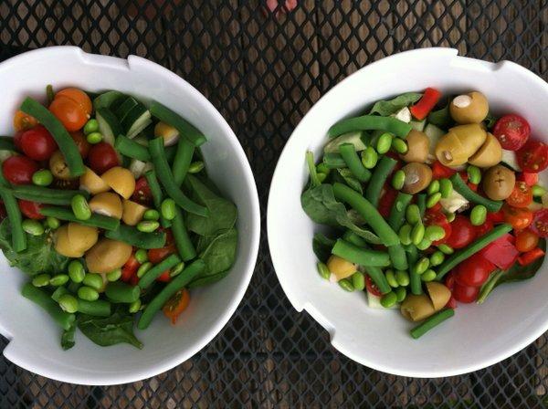 Salad. Salad. Salad.