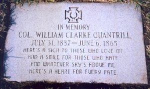 Col. William Clark Quantrill's tombstone