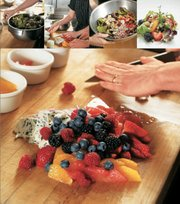 "Killer Triple-Berry Salad, from ""The Flavorful Kitchen Cookbook."""