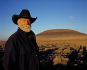 Light artist James Turrell at Roden Crater, an extinct volcanic cinder cone in Arizona that Turrell is transforming into a work of art. Copyright James Turrell. Photograph by Florian Holzherr.