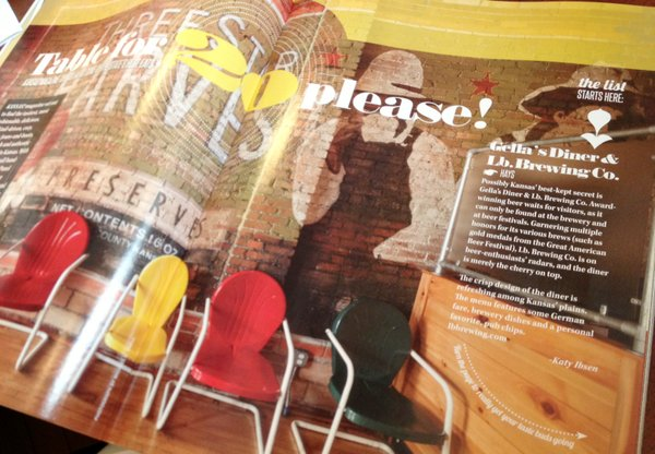 Kansas! magazine's food issue features several favorite Lawrence restaurants and more outstate eateries.